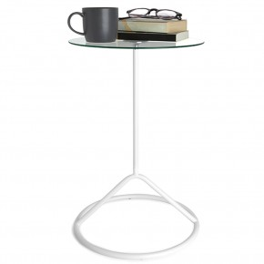 Mesa de Canto Vidro Umbra Loop Side Table Branco